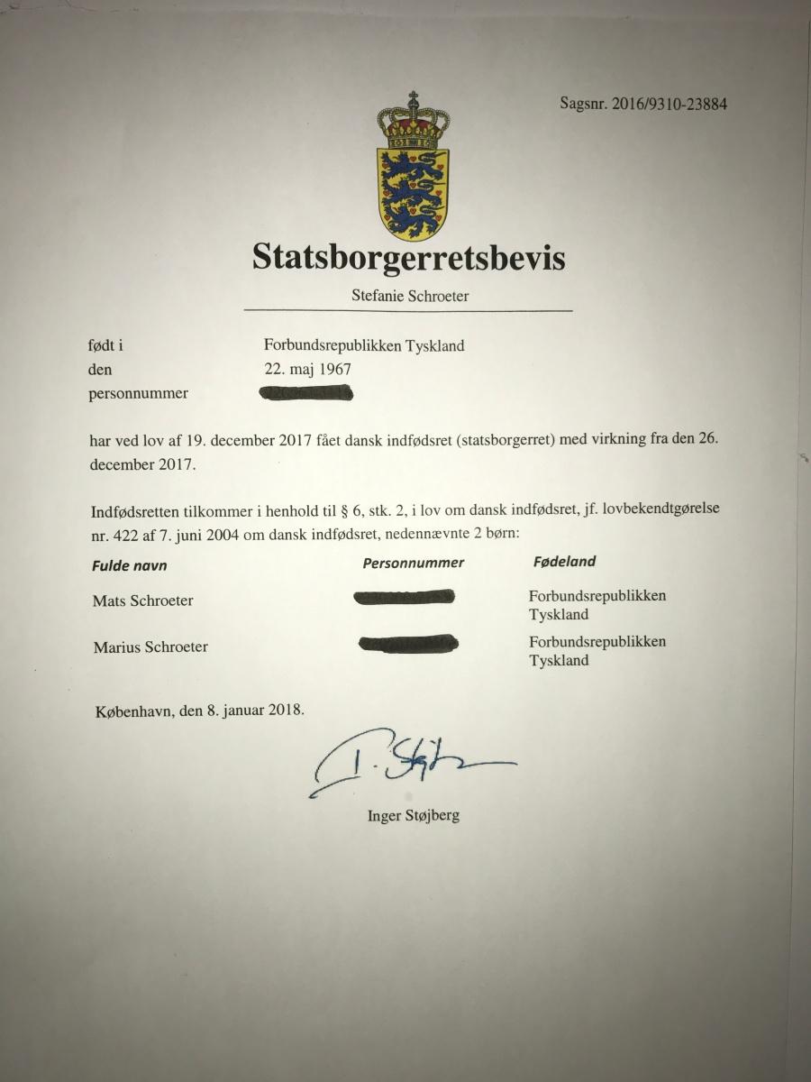 Jetzt ist es amtlich: Wir sind Dänen! Jippii!!!
